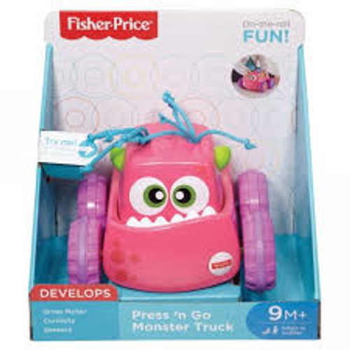 FISHER PRICE PRESS N GO MONSTER TRUCK - PINK