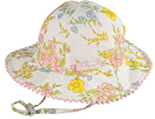 BABY GIRLS BUCKET - INDIANNA LEMON AND WHITE