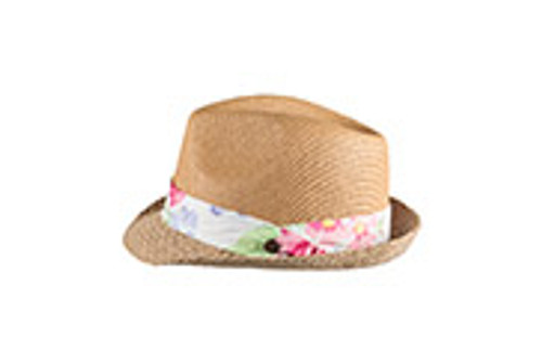 GIRLS FEDORA HAT - LEXIE NATURAL