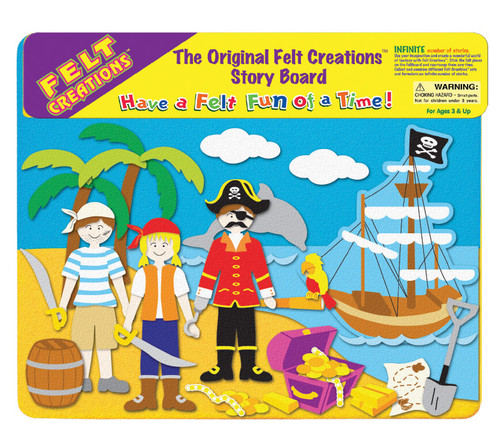 FELT CREATIONS - PIRATE SHIP