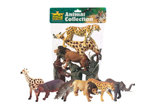 POLYBAG ANIMAL AFRICAN 6PCS