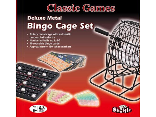 BINGO METAL CAGE DELUXE SET - UP TO 90