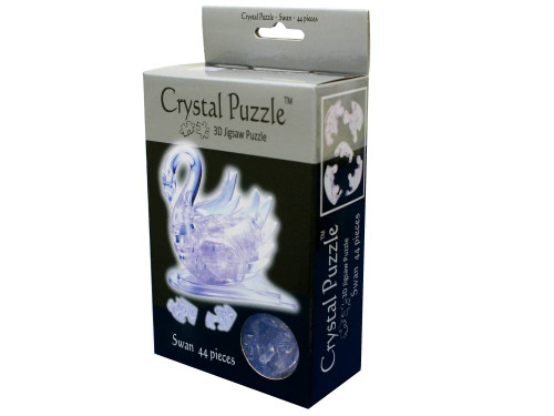3D CLEAR SWAN CRYSTAL PUZZLE