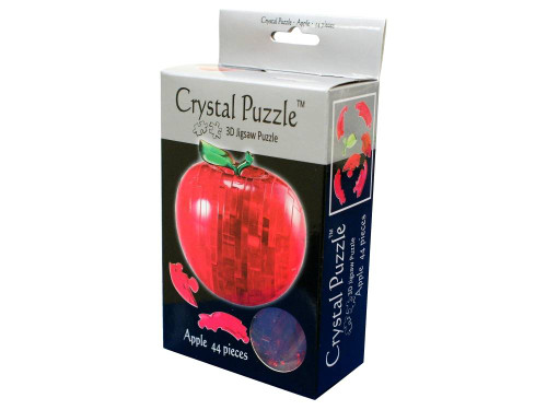 3D RED APPLE CRYSTAL PUZZLE