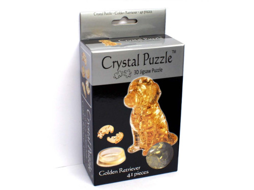 3D GOLDEN RETRIEVER CRYSTAL PUZZLE