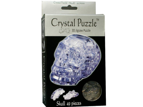 3D CLEAR SKULL CRYSTAL PUZZLE