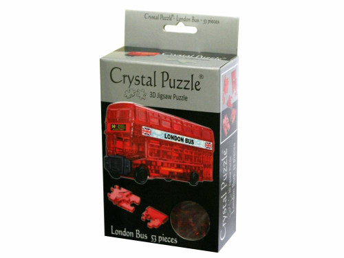 3D LONDON BUS CRYSTAL PUZZLE