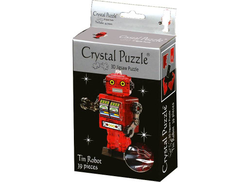 3D RED TIN ROBOT CRYSTAL PUZZLE (24/48)