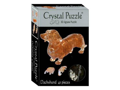 3D DACH SHUND CRYSTAL PUZZLE