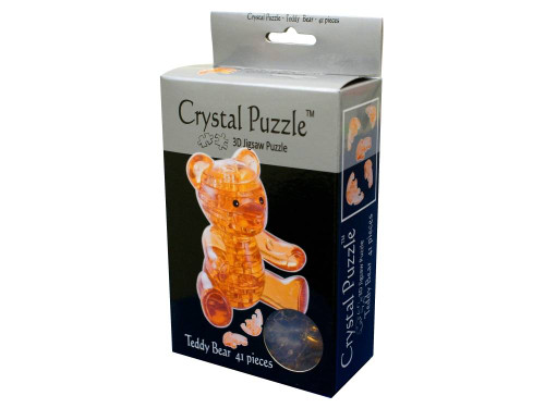 3D BROWN TEDDY CRYSTAL PUZZLE