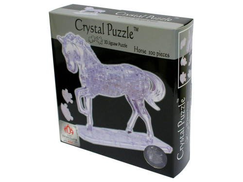 3D CLEAR HORSE CRYSTAL PUZZLE
