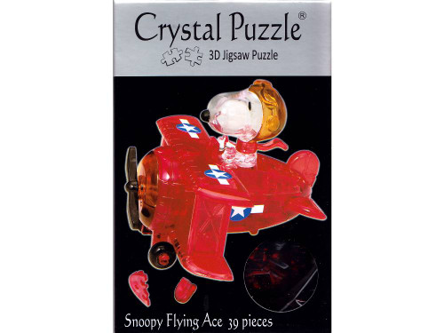 3D SNOOPY FLYING ACE CRYSTAL PUZZLE