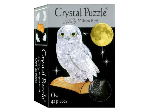 3D CLEAR OWL CRYSTAL PUZZLE