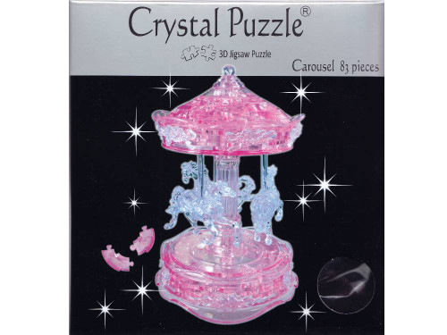 3D PINK CAROUSEL CRYSTAL PUZZLE