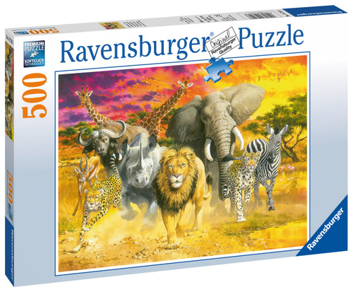 RAVENSBURGER - AFRICAN ANIMALS PUZZLE - 500 PCE