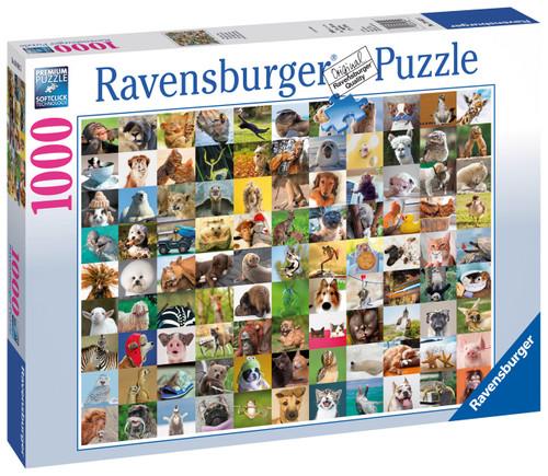 RAVENSBURGER - 99 FUNNY ANIMALS PUZZLE 1000 PCE