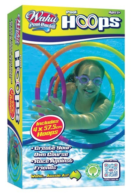 WAHU POOL PARTY : POOL HOOPS : 4 PACK