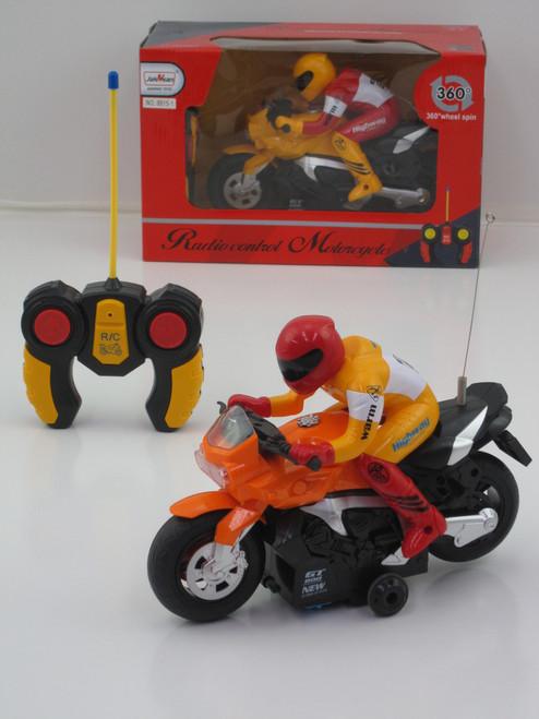 R/C RACING MOTORBIKE WITH RIDER - YELLOW BIKE 27MHZ