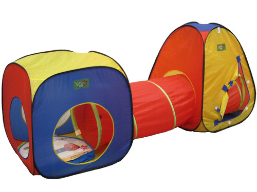 3PCE PLAY TENT WITH TUNNEL