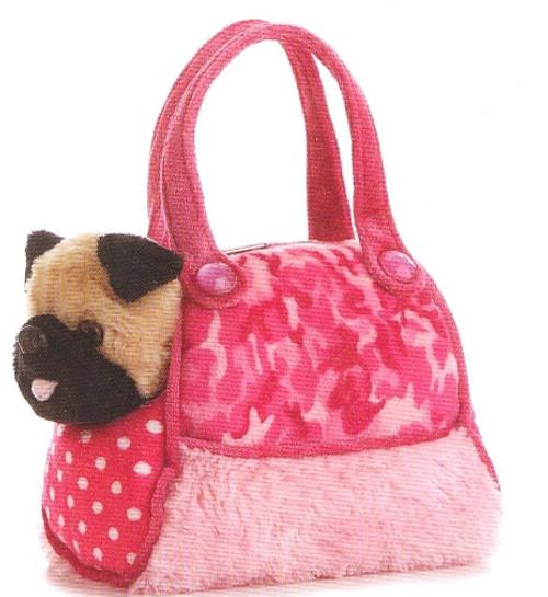 FP PET CARRIER - PUG IN PINK CAMO BAG