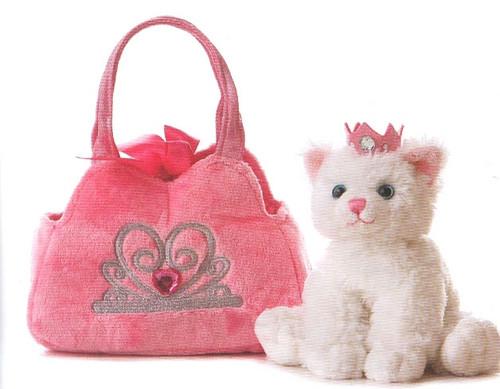 FP PET CARRIER - PRINCESS CAT IN PINK CROWN BAG
