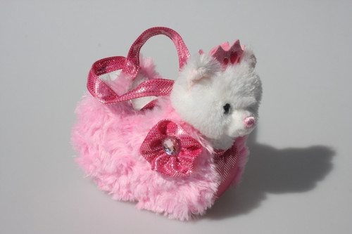 FP PET CARRIER - CAT IN PINK FLUFFY BAG