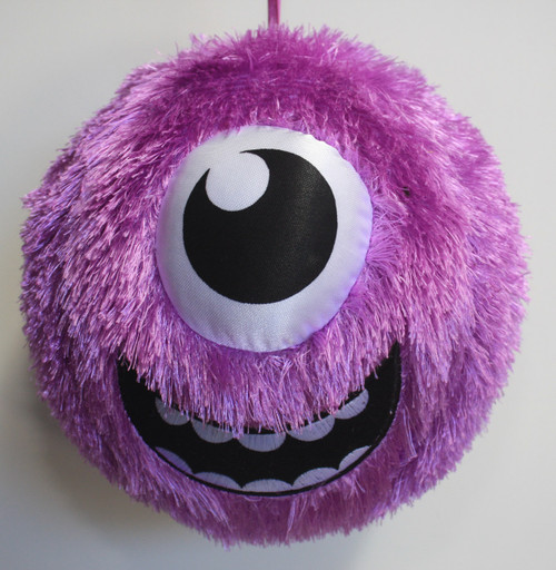 FUZZY BALL PURPLE CYCLOPS