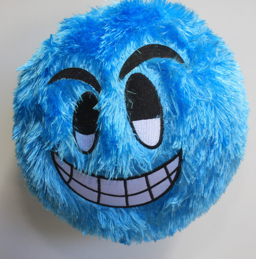 FUZZY BALL BLUE GRINNING