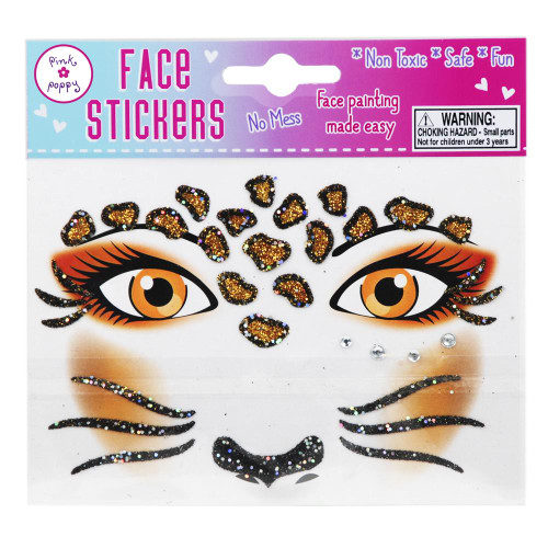 LEOPARD FACE STICKER TATOO