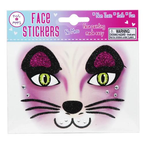 CAT FACE STICKER TATOO