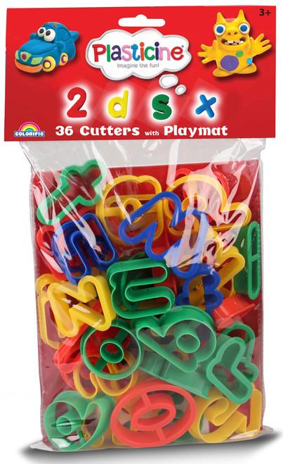 PLASTICINE CUTTERS - ALPHABET/NUMBERS