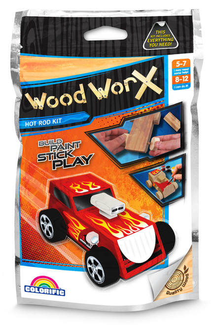 WOOD WORX HOT ROD CAR