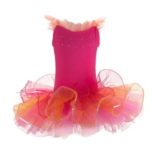 DANCING STAR TUTU SIZE 5/6 - HOT PINK
