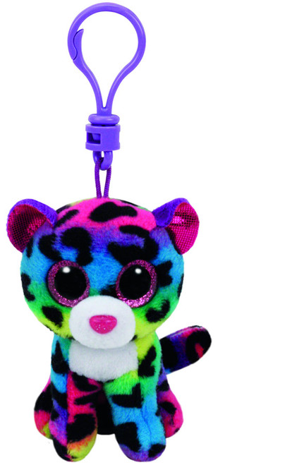 BEANIE BOOS CLIP ONS DOTTY MULTICOLOR LEOPARD
