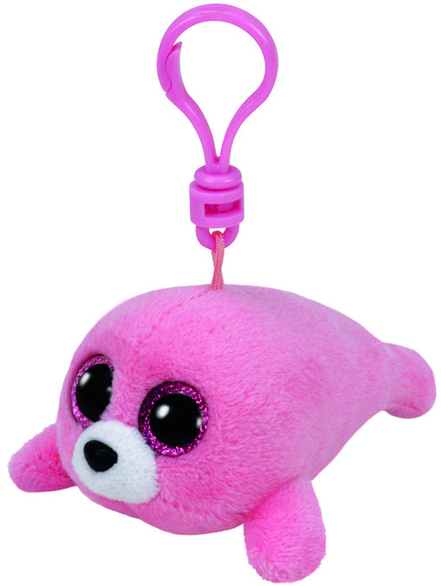BEANIE BOOS CLIP ONS PINK SEAL