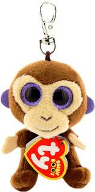 BEANIE BOOS CLIP ONS COCONUT BROWN MONKEY