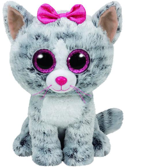 BEANIE BOOS MEDIUM - KIKI GREY CAT