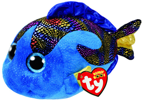 BEANIE BOOS MEDIUM - AQUA FISH