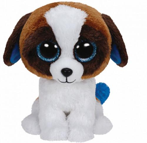 BEANIE BOOS MEDIUM - DUKE THE BROWN AND WHITE DOG