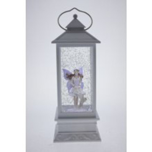 WHITE LANTERN WITH PURPLE FAIRY