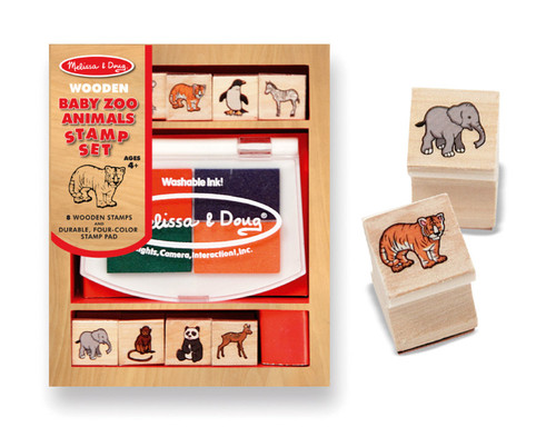 M&D  BABY ZOO ANIMALS STAMP SET