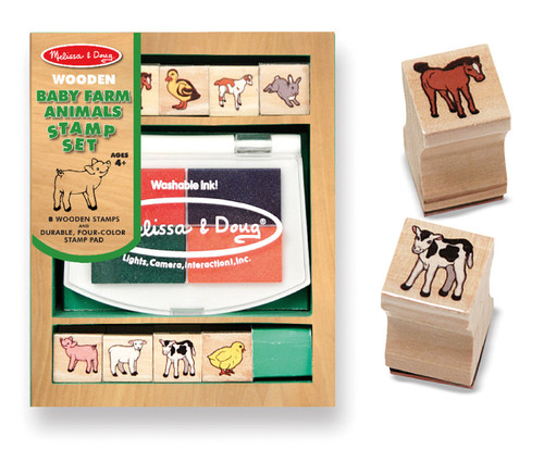 M&D  BABY FARM ANIMALS STAMP SET