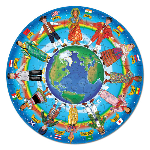 M&D  CHILDREN AROUND THE WORLD FLOOR PUZZLE