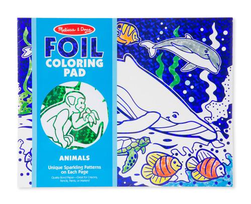 M&D FOIL COLOURING PAD - ANIMALS