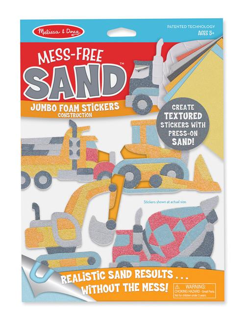 M&D MESS FREE SAND -JUMBO  FOAM STICKERS CONSTRUCTION