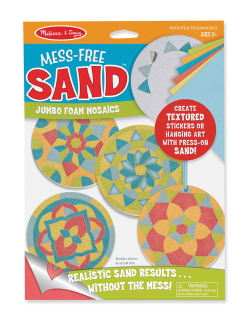 M&D MESS FREE SAND JUMBO FOAM STICKERS - MANDALA