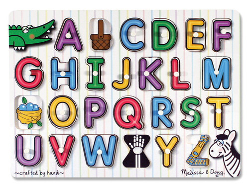 M&D  ALPHABET PEG PUZZLE