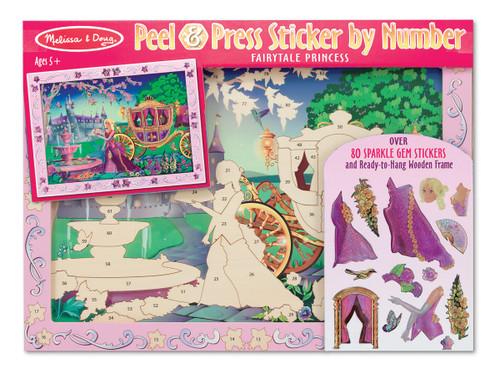M&D  PEEL & PRESS STICKER BY NUMBER - FAIRYTALE PRINCESS