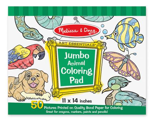 M&D  JUMBO COLOURING PAD  ANIMALS