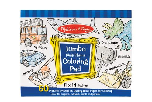 M&D  JUMBO COLORING PAD  BLUE